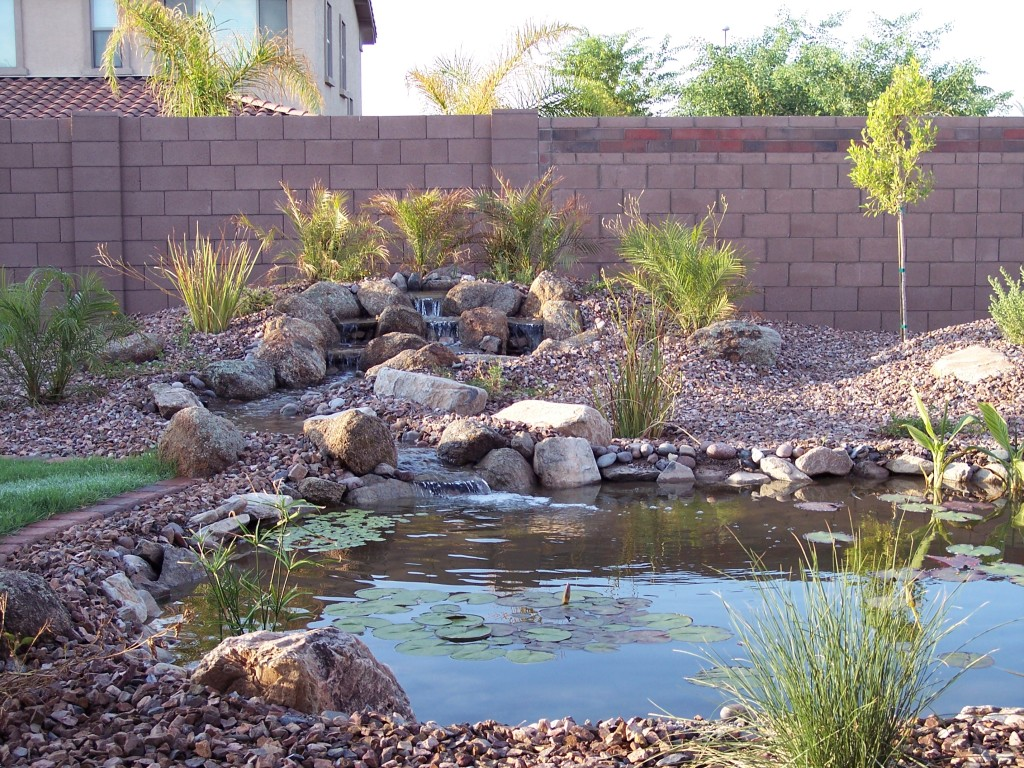 Water features st george landscaping desertscapes lawn for Az pond and pool