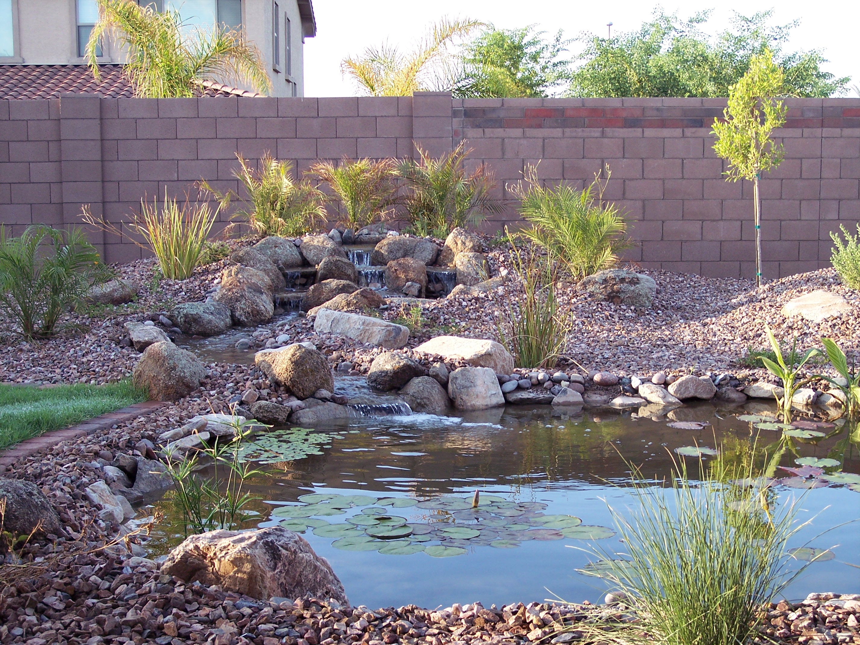 water features st george landscaping desertscapes lawn care