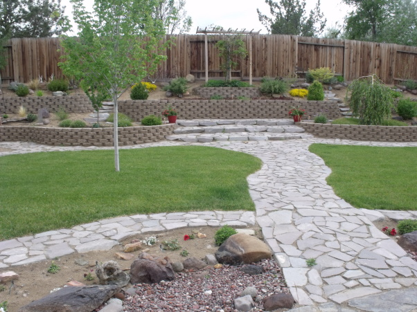Rectangular backyard landscaping ideas pdf for Backyard landscape design ideas